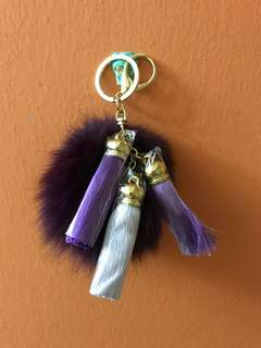 Fluffy Fur Ball Keychain