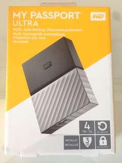 "🚚 WD My Passport Ultra 4TB 2.5"" 外接硬碟"