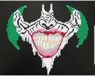 Hama beads design big portrait of batman vs joker logos