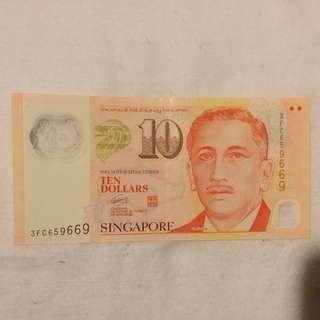 新加坡紙幣 659 669