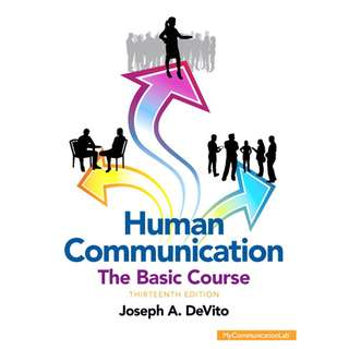 Human Communication The Basic Course 13th Thirteenth Edition by Joseph A. DeVito - Pearson