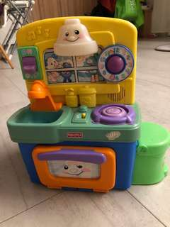 Fisher price cooking toy with music like ABC song