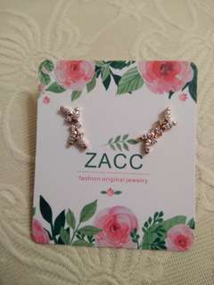 Earrings rose gold colour