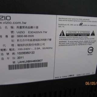 VIZIO E3D420VX-TW 42 吋 LED 液晶電視