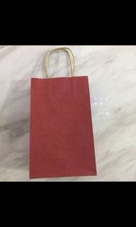 Plain color paper bag (red), DIY your own party goodies bag, goody bag packages, door gifts bag, art and craft paper bag