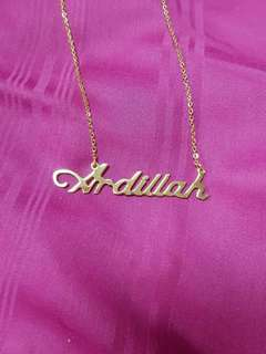Stainless steel personalised name necklace