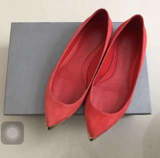 McQueen suede red shoes size 36