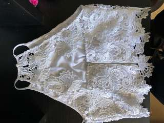 Guess lace halter top