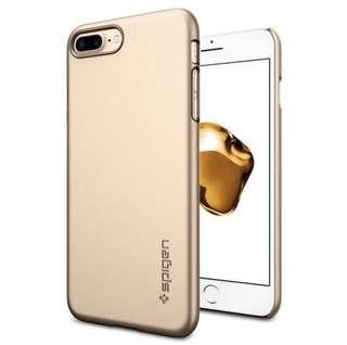 Spigen iphone 7 plus case thin fit (Gold)