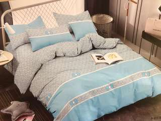 Bed Cover dan Sprei Katun Jepang Blue Shabby Chic Bow
