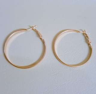 Flat and Rounded Hoop Earrings