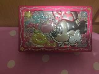 日本迪士尼 米妮珠寶首飾鐵盒