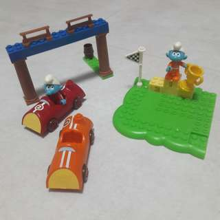 Mega Bloks Smurf - Racing Set