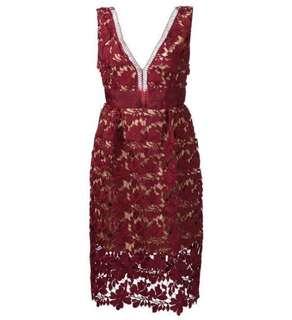 [Size XXS] Self-Portrait Sleeveless Floral Lace Dress