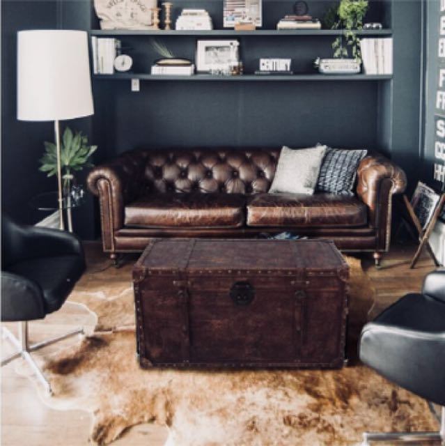 80cm Trunk Industrial Coffee Table Furniture Tables