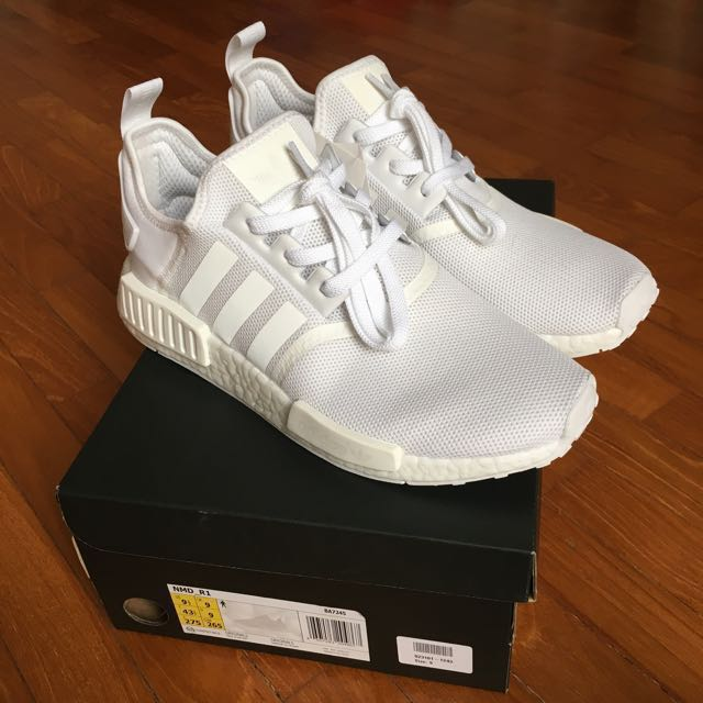 08d8e5b5f Adidas NMD R1 Triple White (UK9