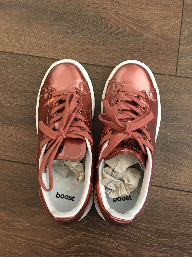 Adidas Stan Smith Boost Womens Copper Size 6 $50