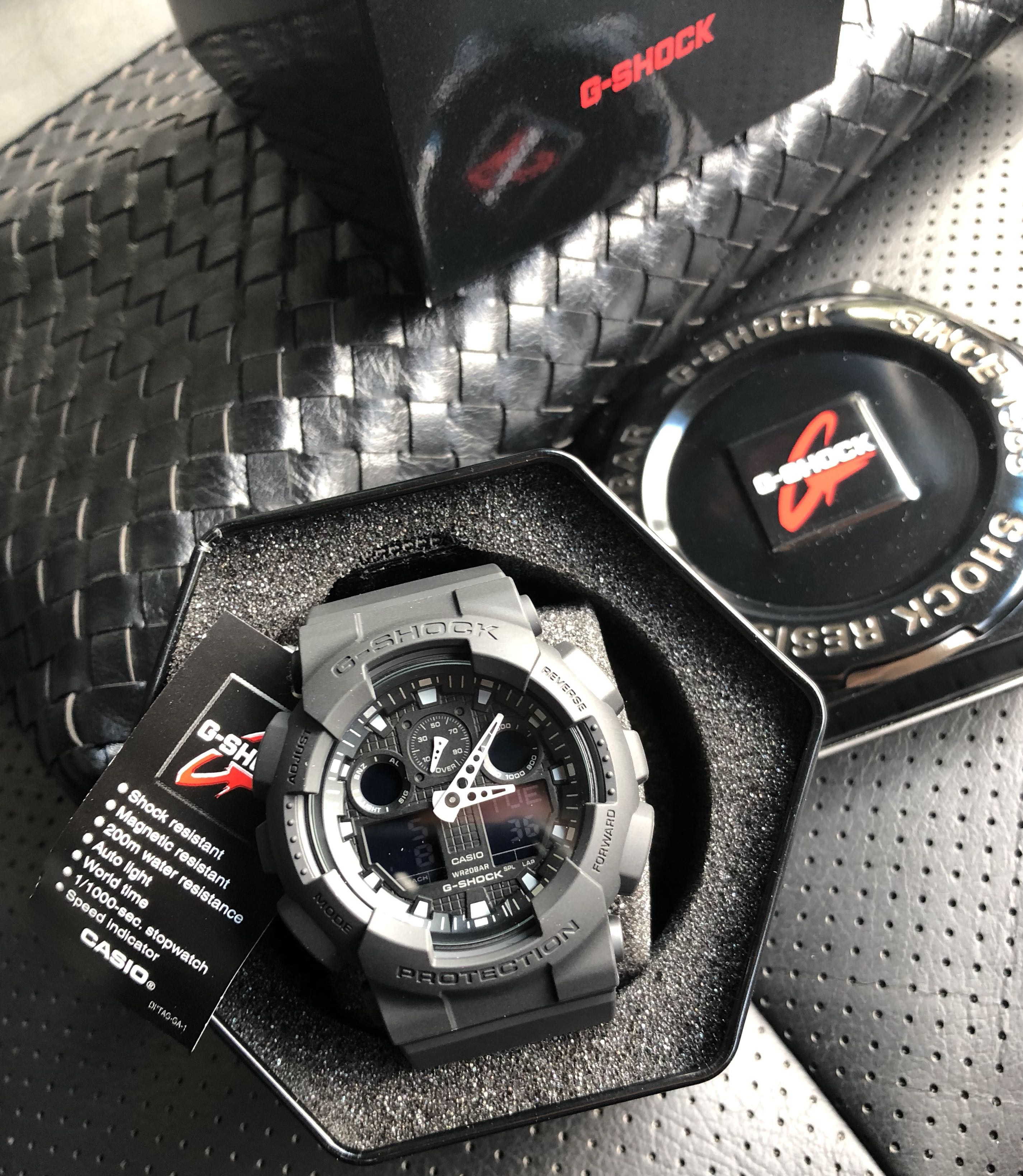 Authentic Original Ga 100bbn G Shock Cordura Nylon Band Stealth Casio World Time Ae 1200whd 1a Black Sale Offer Brand New Full Box Limited Stock First Come Served