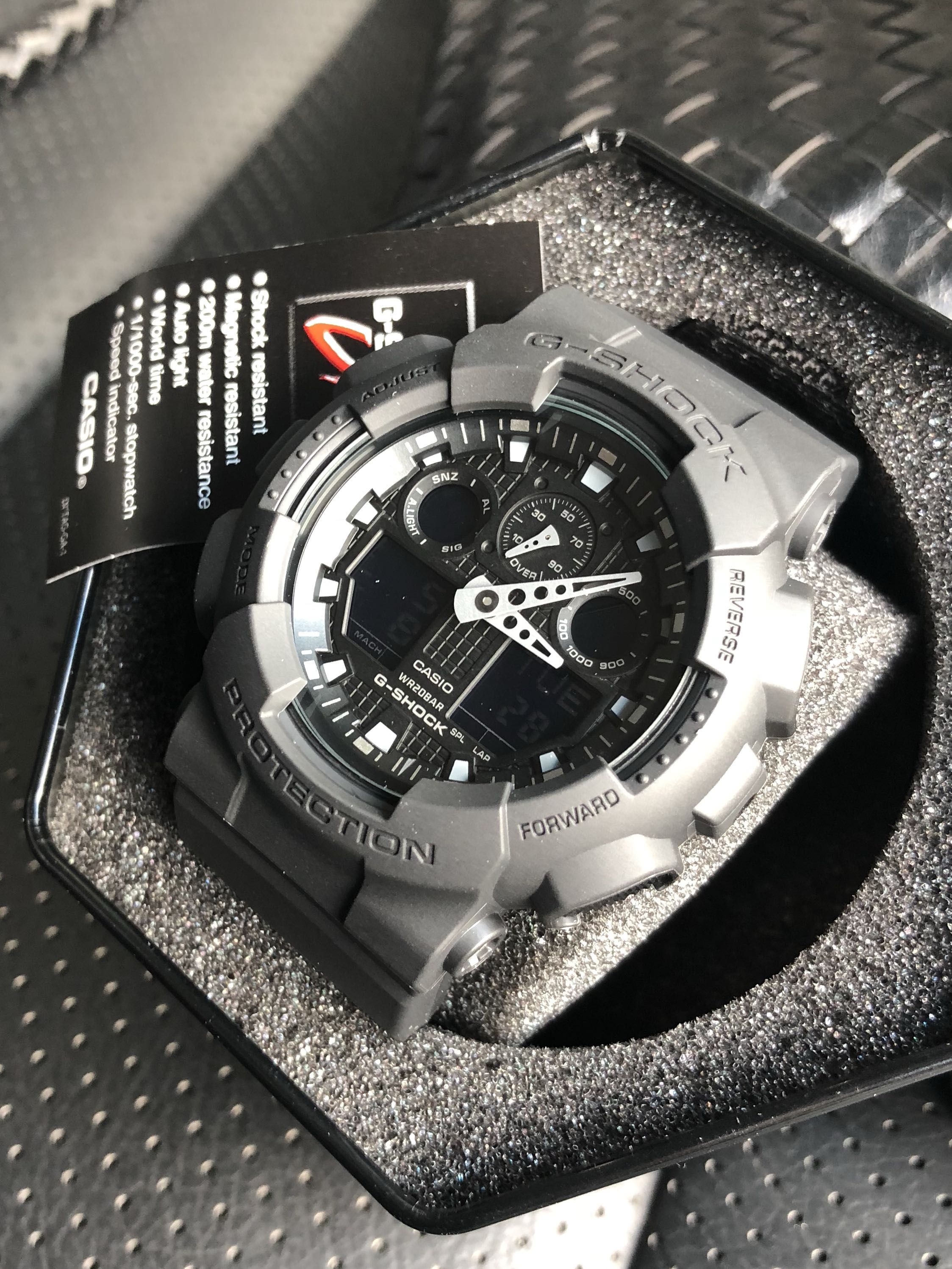 Authentic Original G Shock Ga 100bbn Cordura Nylon Band Military Matte Tactical Black Series Casio Sale Offer Brand New In Box Limited Stock First