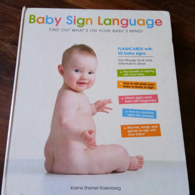 Baby Sign Language Book Babies Kids Others On Carousell
