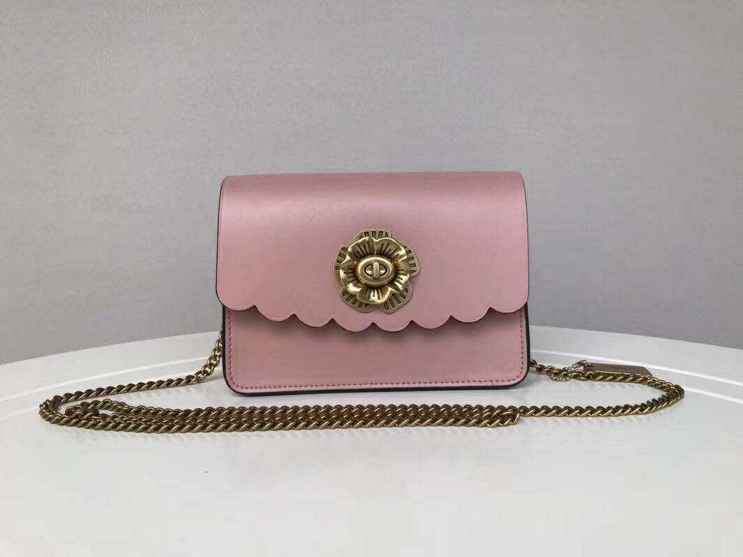 9410b6752a0f6 Coach Bowery Crossbody with Tea Rose Turnlock - pink