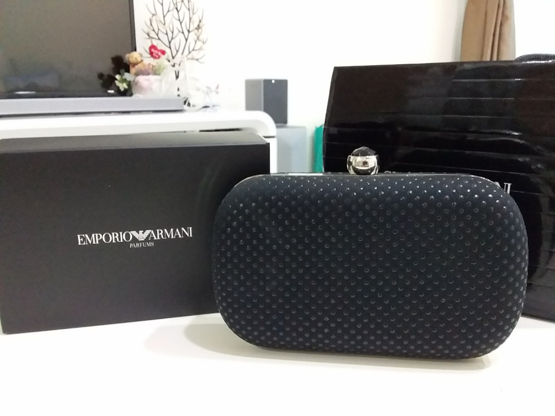 buying now arriving classic shoes Giorgio Armani Clutch bag, Women's Fashion, Bags & Wallets ...