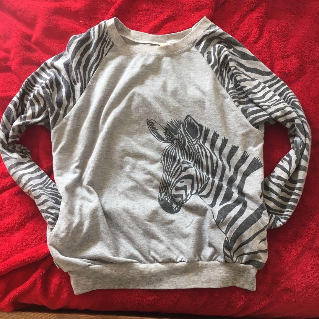 Grey zebra jersey