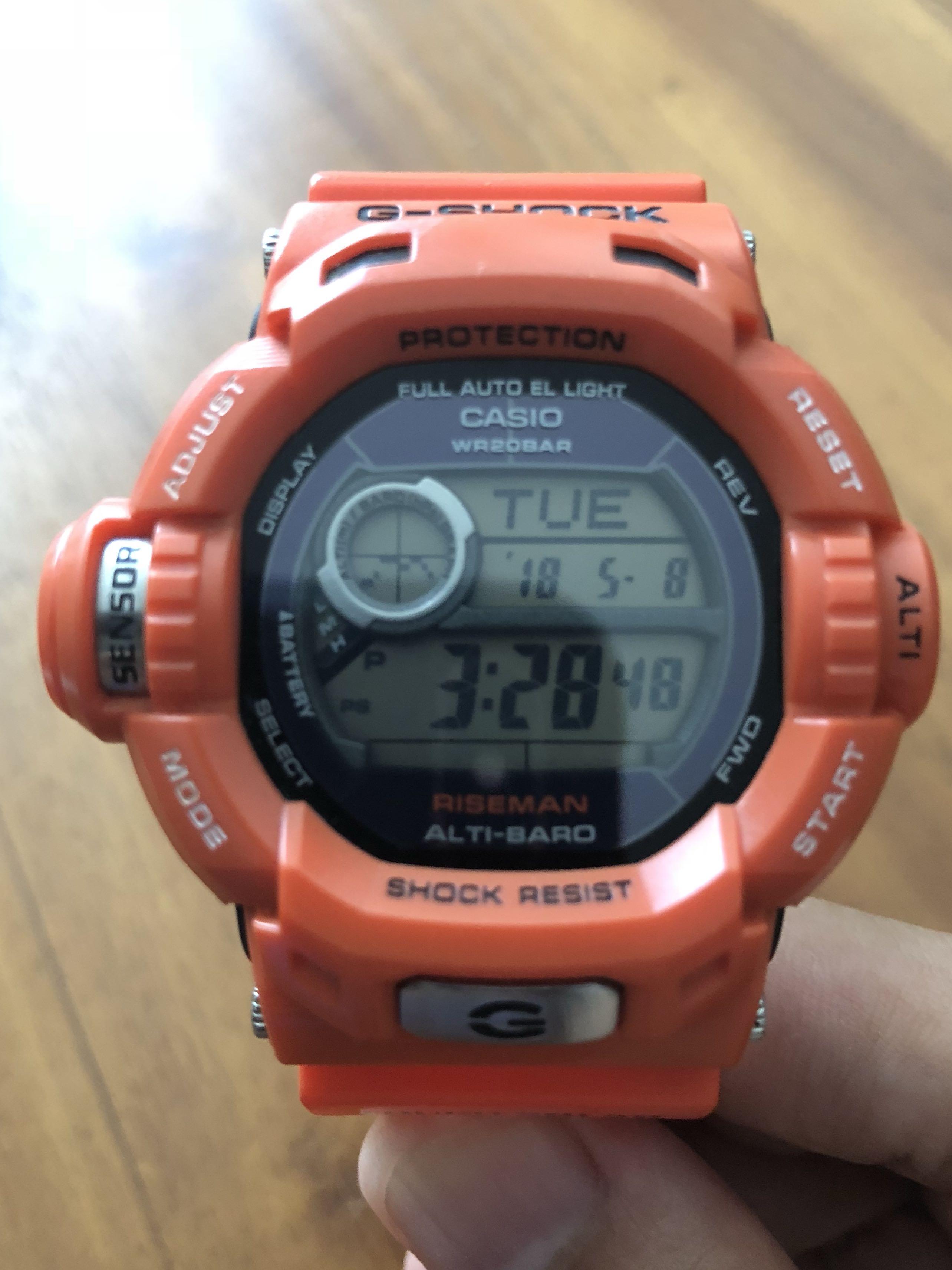 G Shock Riseman 9200r Rescue In Orange Mens Fashion Watches On Casio Gshock Original Ga100mb 1adr Ga 100mb Carousell
