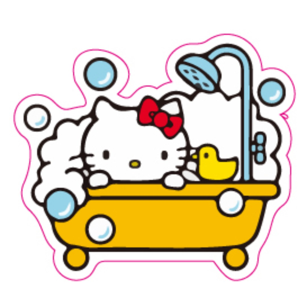 26e963fa1 Hello Kitty Bathtub Bubble Bath Shower Sticker Gloss Waterproof, Design &  Craft, Craft Supplies & Tools on Carousell