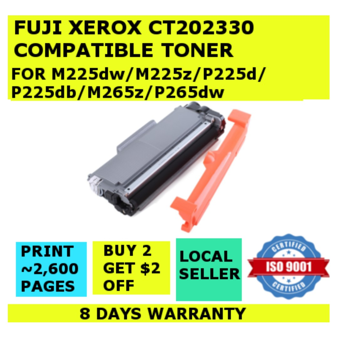 [HIGH CAPACITY] [CT202330] Fuji Xerox Compatible Black Toner Cartridge for  M225dw M225z P225d P225db P265dw M265z