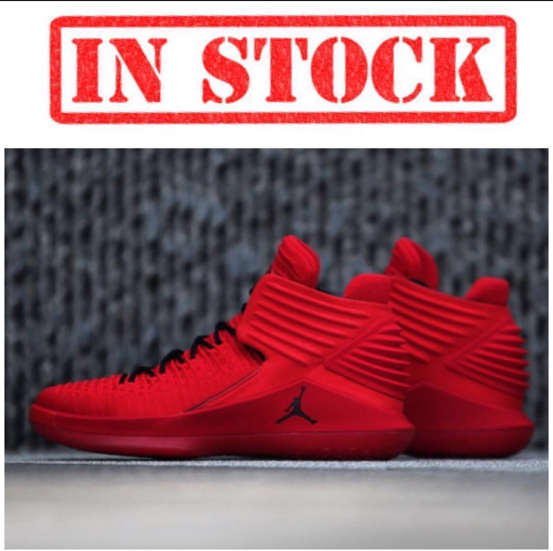 579d9ce6a89 In Stock Men s Air Jordan XXXII ROSSO CORSA Basketball Shoes ...