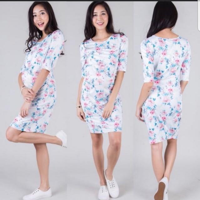 3525058d3499 Jump eat cry JEC flower bodycon nursing dress