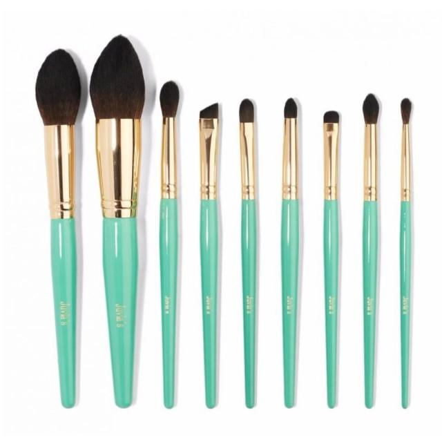Juvia Place Turquoise Blue 9 pcs Brush Set