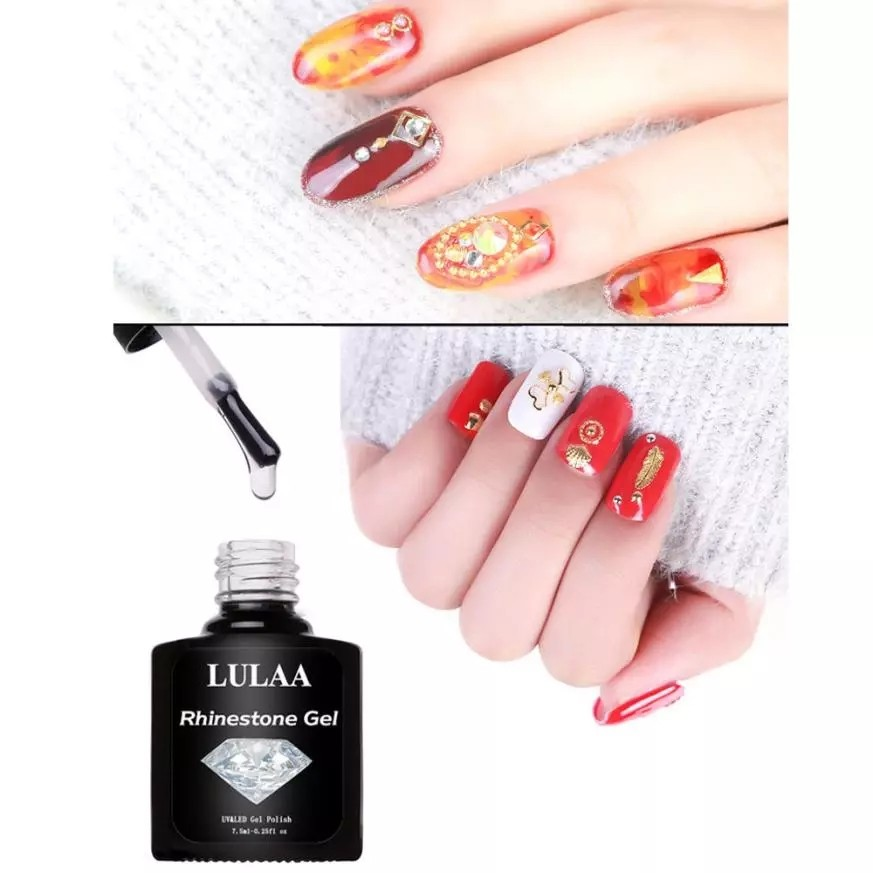 LULAA 7.5ML Nail glue for rhinestones DIY Art Nail Polish Glue ...