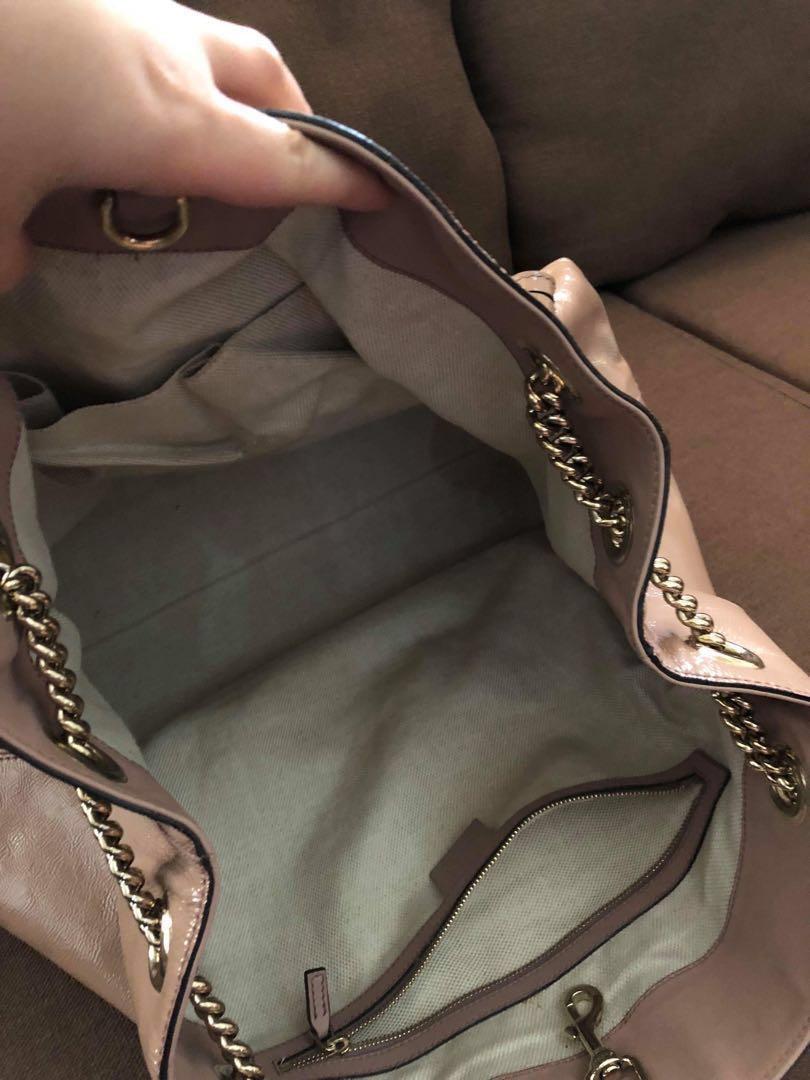 e3f06a41179f Lyst- Gucci Soho Patent Leather
