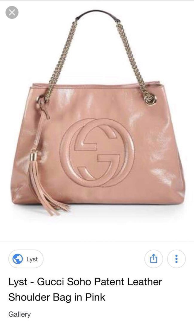eb781421876 Lyst- Gucci Soho Patent Leather