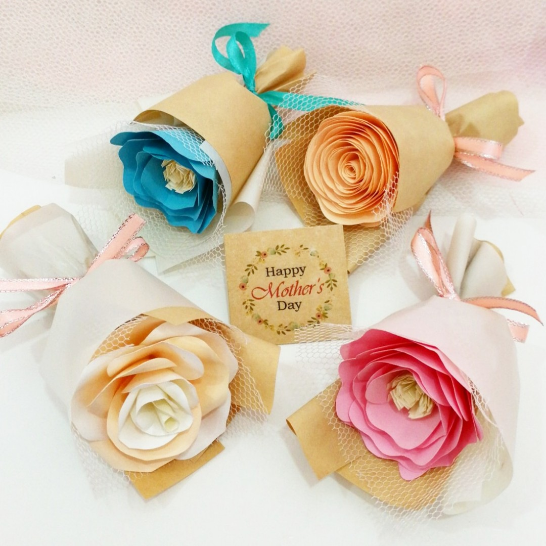 Mini Paper Flower Bouquet Mother S Day Gifts