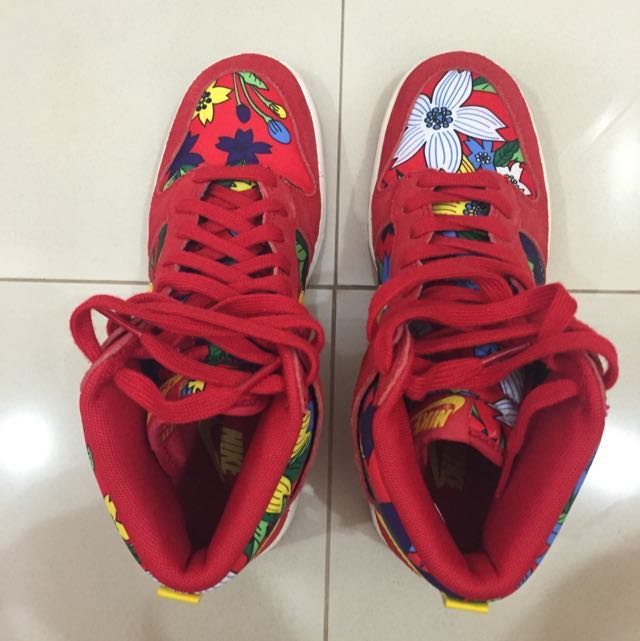 official photos 7134c 39b72 Nike Woman s Dunk Hi Skinny Prints, Luxury, Apparel on Carousell