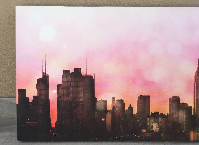 NYC Sunset Skyline Canvas Wall Art