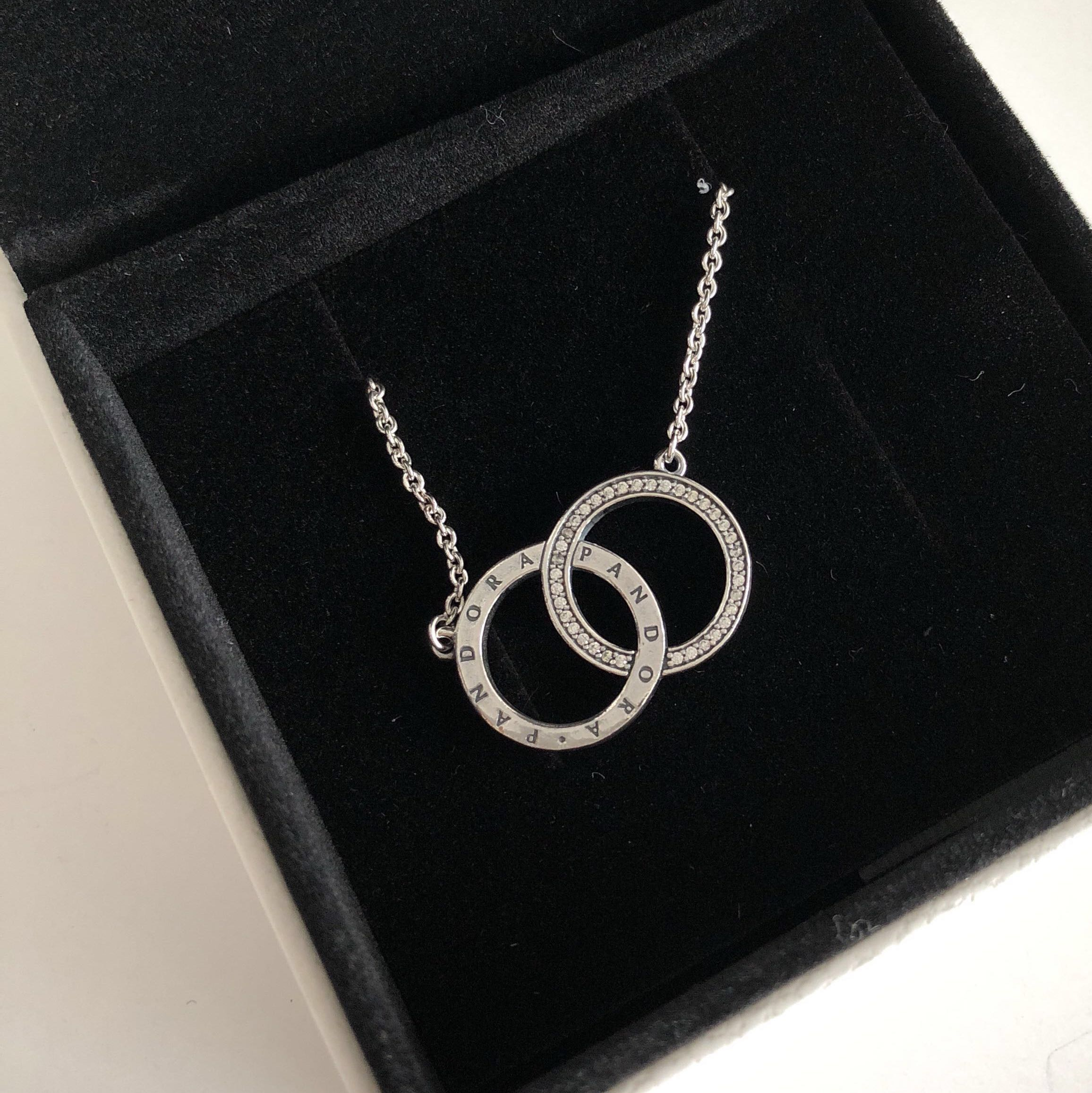 d90b0f38e7003 PANDORA Circles Necklace, Luxury, Accessories on Carousell