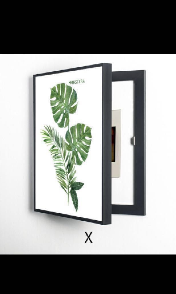 practical magic] fuse box cover tropical plants painting