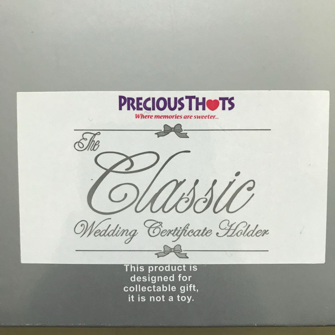 Precious Thots Wedding Cert Holder