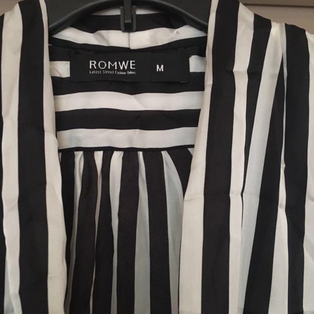 Romwe Strip Blouse
