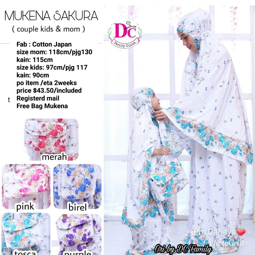 Set Couple Mom Kids Womens Fashion Muslimah On Carousell Mukena Photo