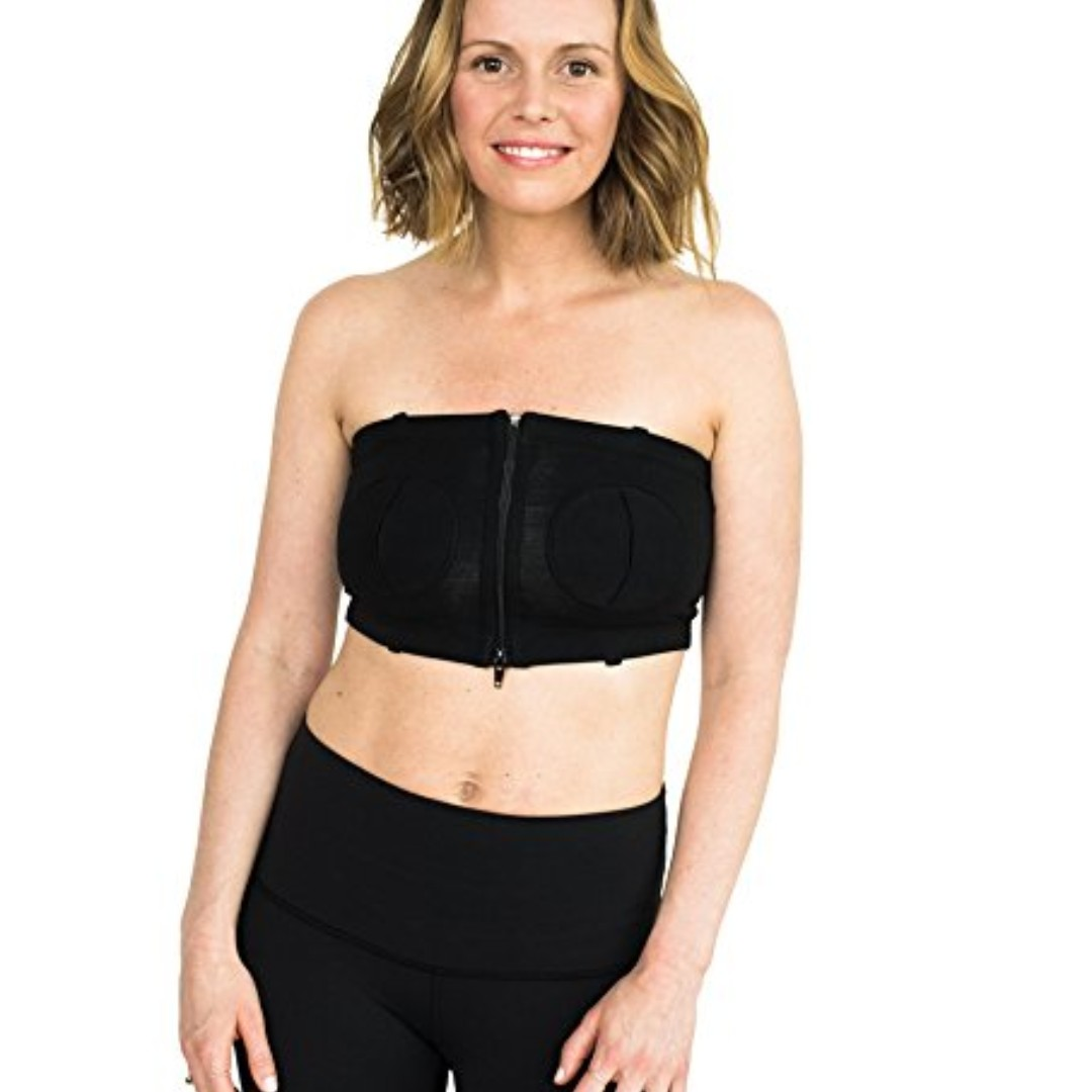 60a58f3fde49a Simple Wishes D Lite Hands Free Pumping Bra, Patented, Black, XS-Large,  Babies & Kids, Nursing & Feeding on Carousell