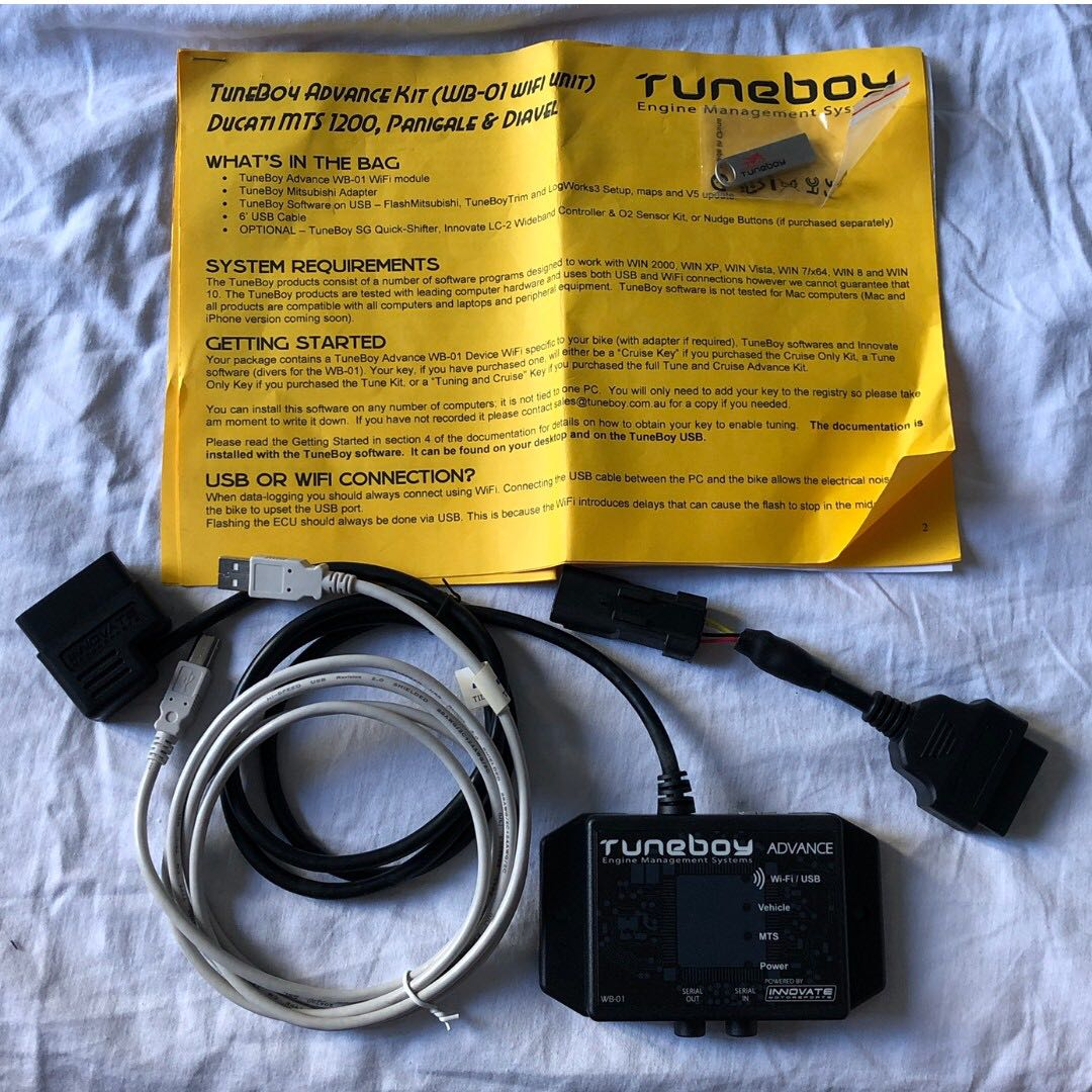 Tuneboy Tuning Kit for Diavel w tuning licence key and