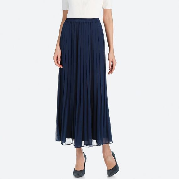 c4789da75d Uniqlo High Waist Chiffon Pleated Skirt, Women's Fashion, Clothes, Dresses  & Skirts on Carousell