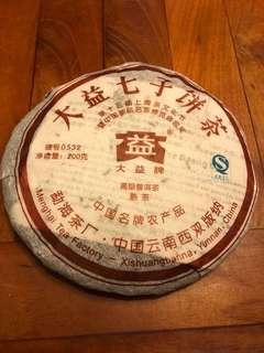 雲南大蓋七子餅茶 2007年普洱熟茶