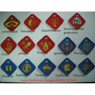 徵收各類童軍專章及旅巾