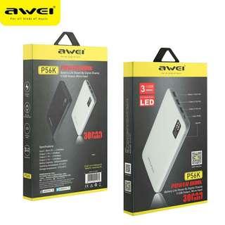 Awei P56k (30000mah 2.0A) 3 usb power bank